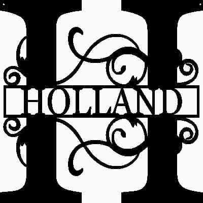 AJD Designs Personalized Last Name H Door Hanger