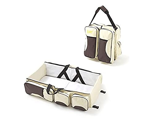 YOXI Baby Travel Crib, Diaper Bag,3 in 1 Portable Changing Station Portable Crib with Storage Compartments for for Babies & Travel Accessory - 3 Drawer Combo Changer
