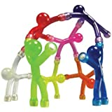 "Medium Size Bendable Earth Magnetic-Man ""Assorted colors"" Set of 8"