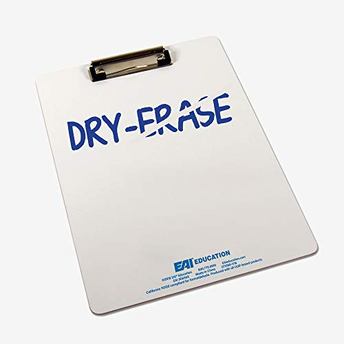 EAI Education Double-Sided Dry-Erase Clipboards: Set of 5