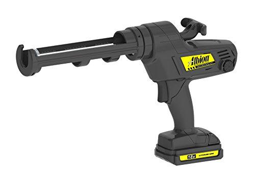 (Albion Engineering 846-1E Cordless Cartridge Gun with Swivel Carriage, 18V, 1/10 Gallon)
