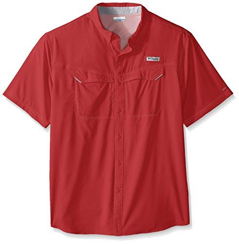 Columbia Sportswear Men's Low Drag Off Shore Short Sleeve Shirt (Big), Sunset Red, 4X