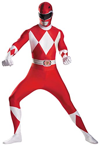 Red Ranger Deluxe Bodysuit Costume - XX-Large - Chest Size -