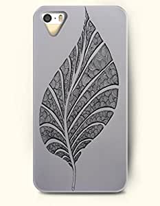 OOFIT Apple iPhone 5 5S Case Paisley Pattern ( Elegant Leaf with Swirls in Gray Background )