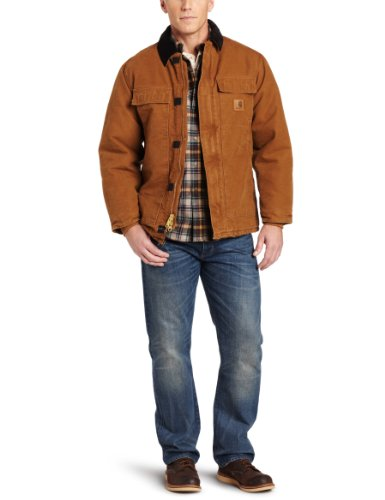 c Quilt Lined Sandstone Traditional Coat C26,Carhartt Brown,Large ()