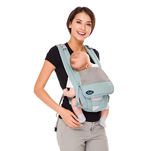 Cuby Ergonomic Baby Carrier,Classic Carrier, Soft & Breathable Baby Carriers Backpack Front and Back for Infants to Toddlers Up to 36 lbs (Green)
