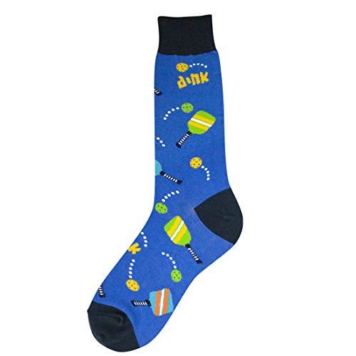 Foot Traffic - Men's Sports-Themed Socks, Fits Men's Shoe Sizes 7-12 (Pickleball)