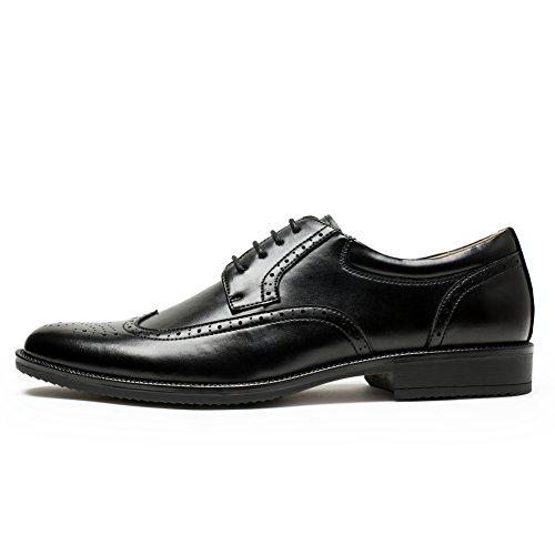 Golaiman Herenkleding Oxfords Schoenen Wingtip Brogue Schoenen Leren Veterschoenen Formele Schoenen Zwart