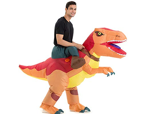 T Rex Inflatable (Hsctek Inflatable T-ex Costume Adults, Halloween Inflatable Dinosaur Costume for Adults, Blow Up Dinosaur Costume for Women)