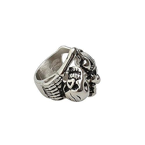 96e6bca1ed87 Caliente de la venta Epinki Fashion Anillos Para Hombre Acero Inoxidable  Esqueleto Patrón Punk Banda Biker