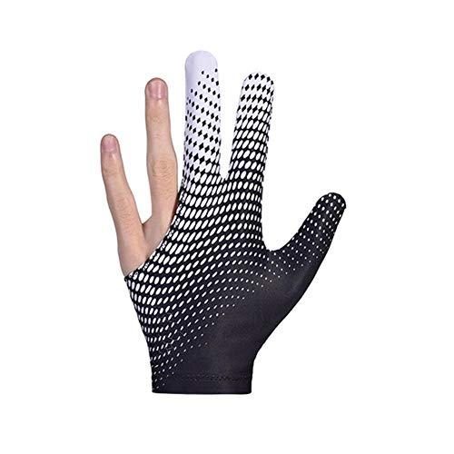 VOVI Men Woman 3 Fingers Billiards Glove, Elastic Lycra Show Gloves, Profession Snooker Cue Shooters Gloves for Billiard Shooters Carom Pool Snooker Cue Sport - Mens Show Gloves