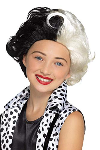 Smiffy's 48835 Evil Madame Wig, Girls, Black & White, One Size