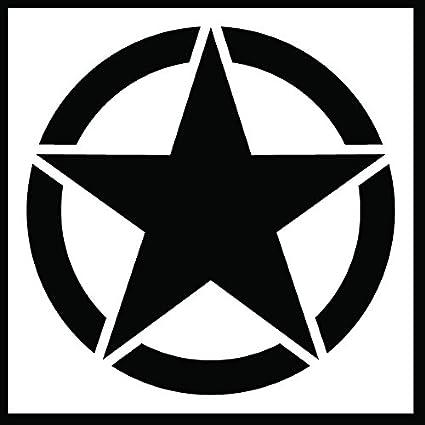 ce046b8b4 Auto Vynamics - STENCIL-INVSTAR-CLASSIC-10 - Classic Military Invasion Star  Stencil