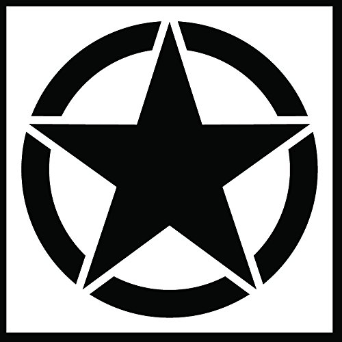 Auto Vynamics - STENCIL-INVSTAR-CLASSIC-20 - Classic Military Invasion Star Stencil - A Classic Version Of The Iconic WWII Symbol! - 20-by-20-inch Sheet - (1) Piece Kit - Single Sheet - Info Spec Sheet