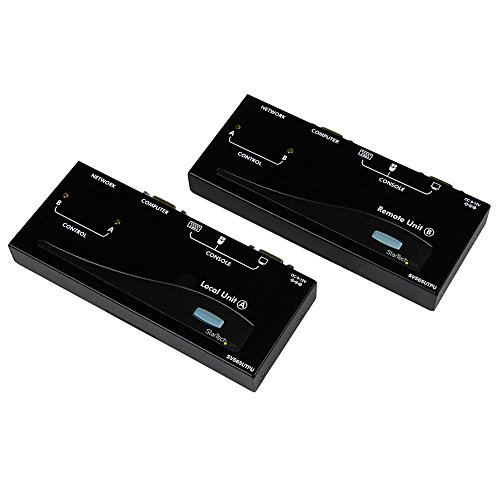 StarTech.com 500ft VGA KVM Over IP Extender - PS/2 & USB Host - KVM Console Over CAT5 Ethernet for Multiple Servers/Computers (SV565UTPU) ()