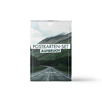 VISUAL STATEMENTS 20er Postkarten Set LIEBE, FREUNDSCHAFT; GLÜCKSBRINGER mit Sprüchen / 2 verschiedene Varianten / 20 verschi