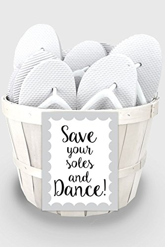 Wedding Flip Flop Favors Set of 6 Style 6830000, White -