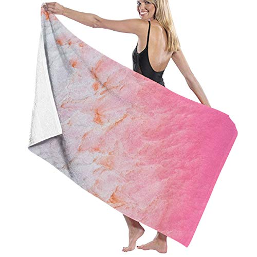 Yuteea Kalbarri Pink Salt Lake Western Australia Beach Towel-Oversized Bath Towel-Quick Dry Travel Beach Towel Pool Towels ()