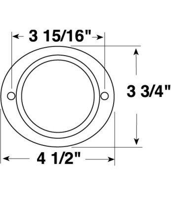 PM V472A Aluminum Oval Reflector