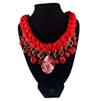 Collar artesanal trenzado para mujer (Handcrafted braided necklace)