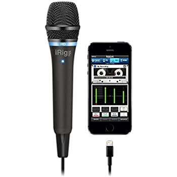 IK Multimedia iRig Mic HD high-definition handheld microphone for iPhone, iPad and Mac (black)