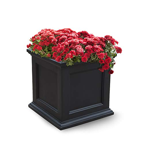 B Patio Planter, 20-Inch, Black ()