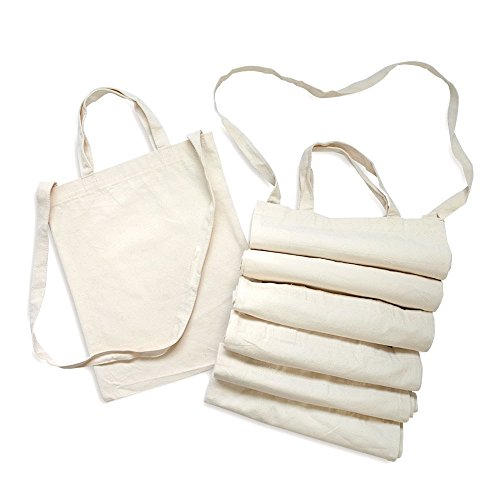 12 Pack Canvas Tote Handbags Crossbody Shoulder Bag BULK Wholesale 100% Cotton Fabric Reusable (Factory Wholesale Handbag)