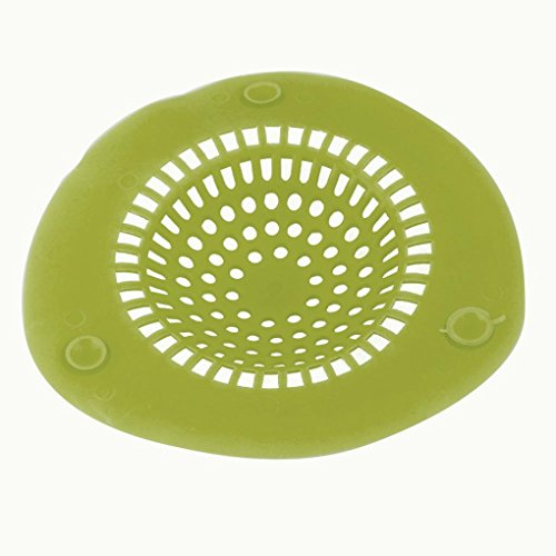 Sink Strainer ,Muxika Fashion New Silicone Bath Kitchen Waste Sink Strainer Filter Net Drain Hair Catcher (L,