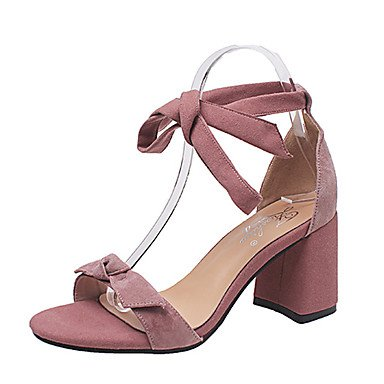 RUGAI-UE Moda de Verano Mujer sandalias casuales zapatos de tacones PU Confort,rubor rosa,US6.5-7 / UE37 / UK4,5-5 / CN37 Beige