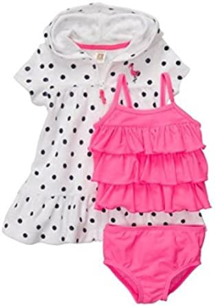 Amazon.com: Carter's Baby Girls 3Piece Swim Tankini Top