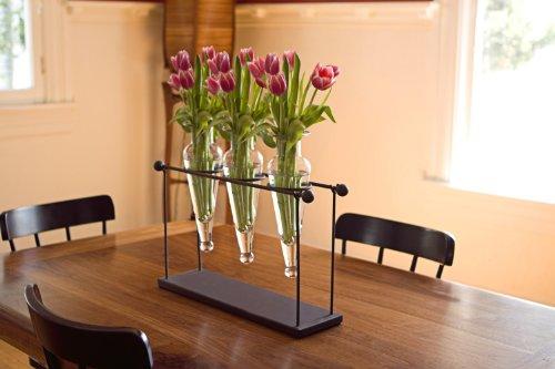 Danya B Triple Glass Vase on Iron -