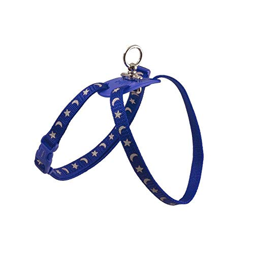 Figure 8 Cat Harness - Ancol Nylon Harness Figure 8 Moon & Stars Blue