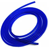 Upgr8 10 Feet Length Universal 3mm (1/8 Inch) Inner Diameter High Performance Silicone Vacuum Hose Line (3MM BLUE)
