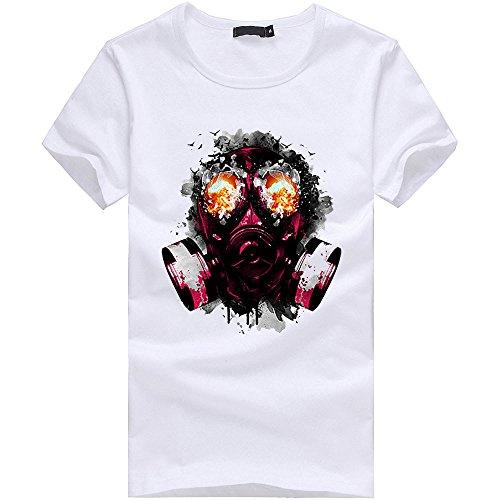 Imprimé À Tops Sport Couple Original Courtes shirt T Manches Chemise Amlaiworld Hommes Humour Fashion Blanc Blouse xwgtpURn