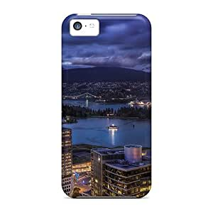 MMZ DIY PHONE CASENew Diy Design Vancouver City Skyline For iphone 4/4s Cases Comfortable For Lovers And Friends For Christmas Gifts
