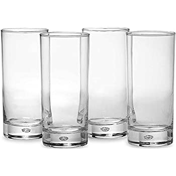 Circleware 10132 Air Bubble Heavy Base Highball Drinking Glasses, Set of 4  Dinnerware Kitchen Glassware for Water, Ice Beer, Wine, Cold Beverages and  ...