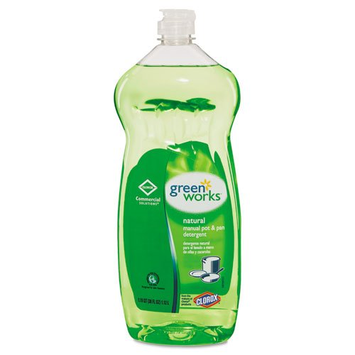 Green Works Naturally Derived Manual Pot & Pan Dish Liquid, Original, 38oz Squeeze Bottle - eight bottles. by Greenworks