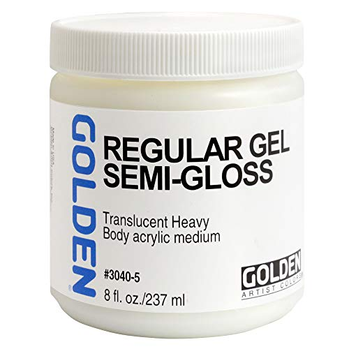 Golden 30405 Acrylic Medium Regular Gel Semi-Gloss, 8-Ounce ()