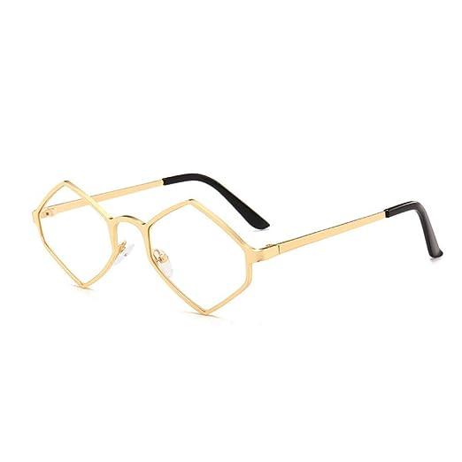 Yangjing-hl Gafas de Sol hexagonales Irregulares Gafas de ...