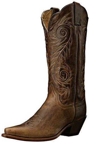 Image of Justin Boots Women's Classic Western Boot Narrow Square Toe,Tan Damiana,6.5 B US