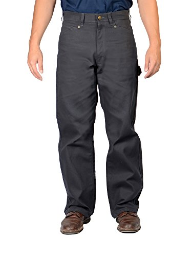Ben Davis Carpenter Pants With Utility Pocket – Black Single Knee (Knee Pocket Canvas Pant)
