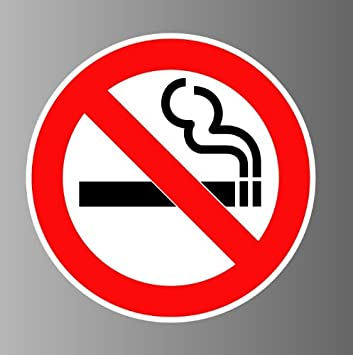 No smoking smoking prohibited sign sticker decal 7 in