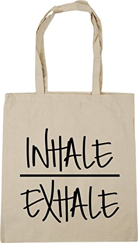 and Gym x38cm 10 Tote HippoWarehouse Natural litres Beach Exhale Inhale 42cm Bag Shopping xqnw1XT