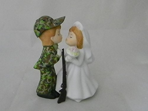 Wedding Reception Party Camo Hunter with Gun Redneck Cake Topper by Custom Design Wedding Supplies by Suzanne (Image #1)