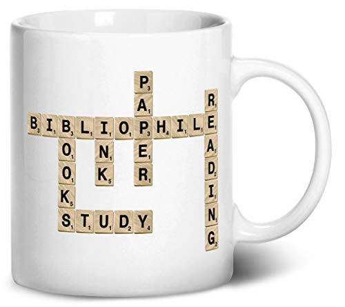 Tenacitee Scrabble Bibliophile Coffee Mug, 11oz, White