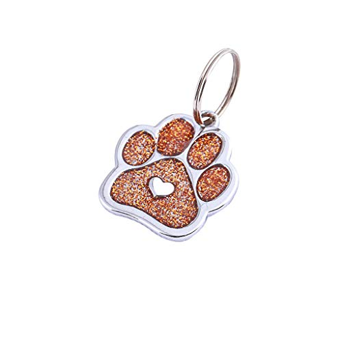 Topgee Dog Cat Tags Pet Jewelry Necklace, More Choose Cute More Drilling Imperial Crown Dog Tag Disc Disk Pet ID Enamel Accessories Collar Necklace Pendant