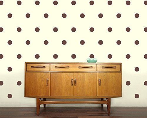 Brown Polka Dot Peel - Vinyl Polka Dot Removable Wall Decals | peel & stick vinyl dots |18 - 6