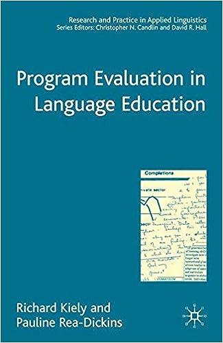 Download e-bog gratis til iPad Program Evaluation in Language Education (Research and Practice in Applied Linguistics) PDF