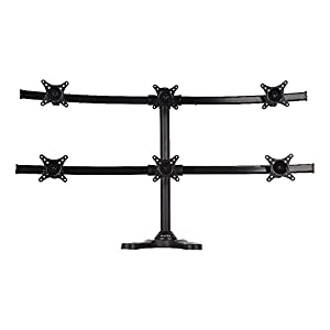 Viotek Articulating Hex 6-Monitor Stand with Adjustable Height – Monitor Arm with VESA Mount fits up to 6 screens