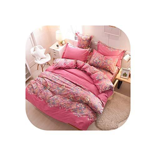 Comforter Sets Cotton Brushed Duvet Cover Sets 3Pcs Home Bedding Set Quilt Cover with Pillowcases,6,160X210cm 3Pcs ()